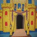 Castle painted for Children's ministry area